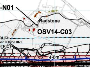 Predicted HS2 noise levels for Radstone (source: HS2 Ltd)